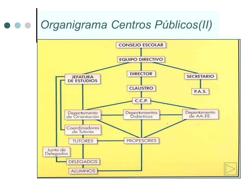 Organigrama Centros Públicos(II)