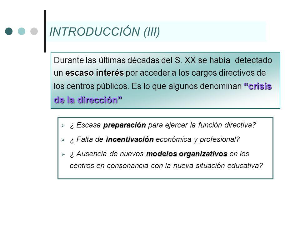 preparación ¿ Escasa preparación para ejercer la función directiva? incentivación ¿ Falta de incentivación económica y profesional? modelos organizati