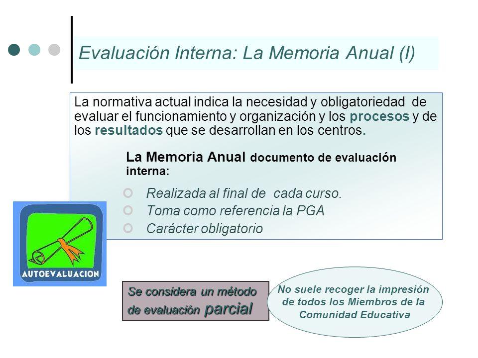 La normativa actual indica la necesidad y obligatoriedad de evaluar el funcionamiento y organización y los procesos y de los resultados que se desarro