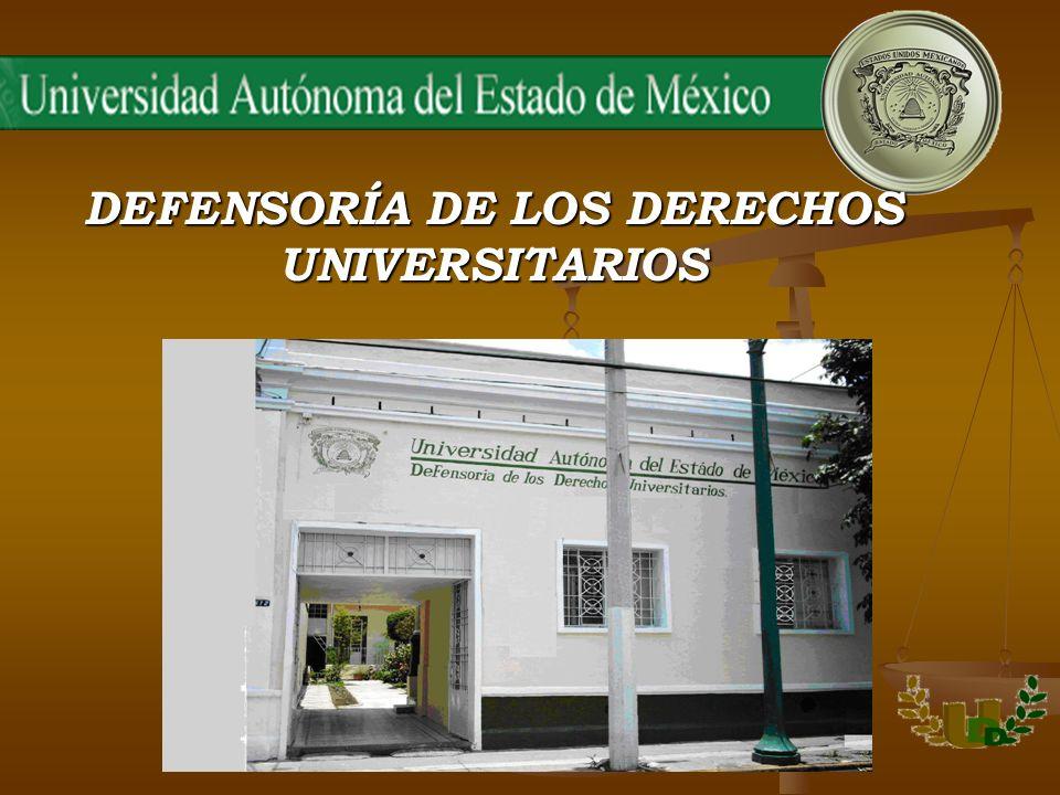 INFORME DE ACTIVIDADES 2006 En cumplimiento de lo dispuesto por los Artículos 12 y 13 fracción XI del Reglamento de la Defensoría de los Derechos Universitarios, los Defensores Universitarios presentan a la consideración del Señor Rector y de los Miembros del Honorable Consejo Universitario de la Universidad Autónoma del Estado de México, el Informe Anual de Actividades realizadas en este órgano, durante el período comprendido entre el 1º de marzo de 2006 y el 1º de enero de 2007.