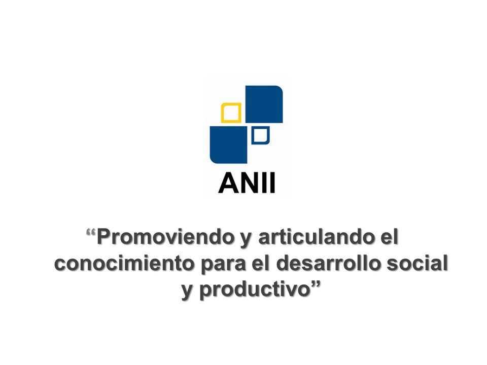 Promoviendo y articulando el conocimiento para el desarrollo social y productivoPromoviendo y articulando el conocimiento para el desarrollo social y productivo
