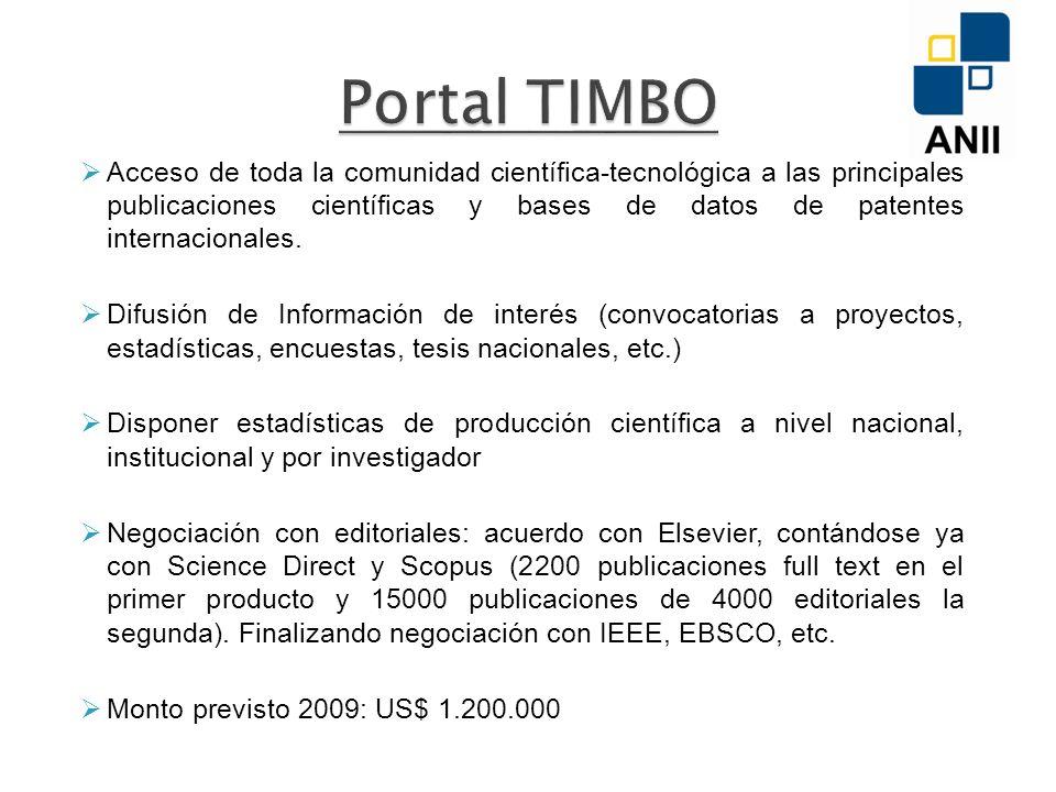 Acceso de toda la comunidad científica-tecnológica a las principales publicaciones científicas y bases de datos de patentes internacionales.