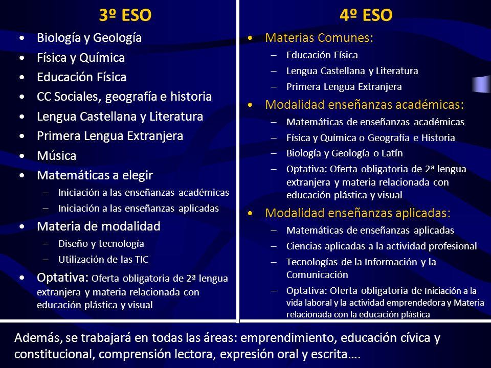 SECUNDARIA Es en cuarto curso de ESO donde los alumnos se verán obligados a elegir entre una vía académica y otra profesional.
