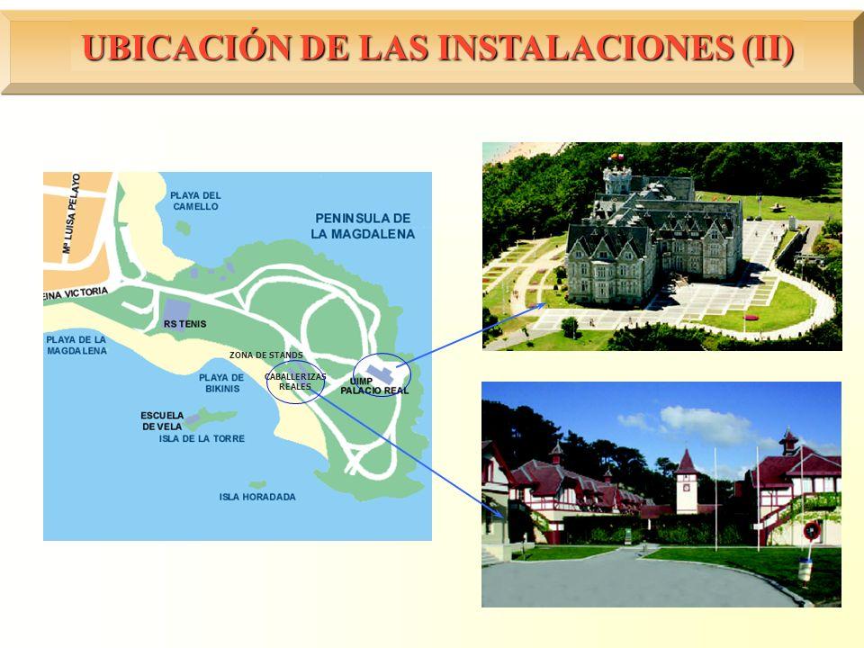 UBICACIÓN DE LAS INSTALACIONES (II) CABALLERIZAS REALES ZONA DE STANDS