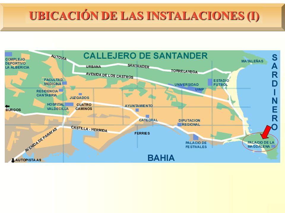 UBICACIÓN DE LAS INSTALACIONES (I)