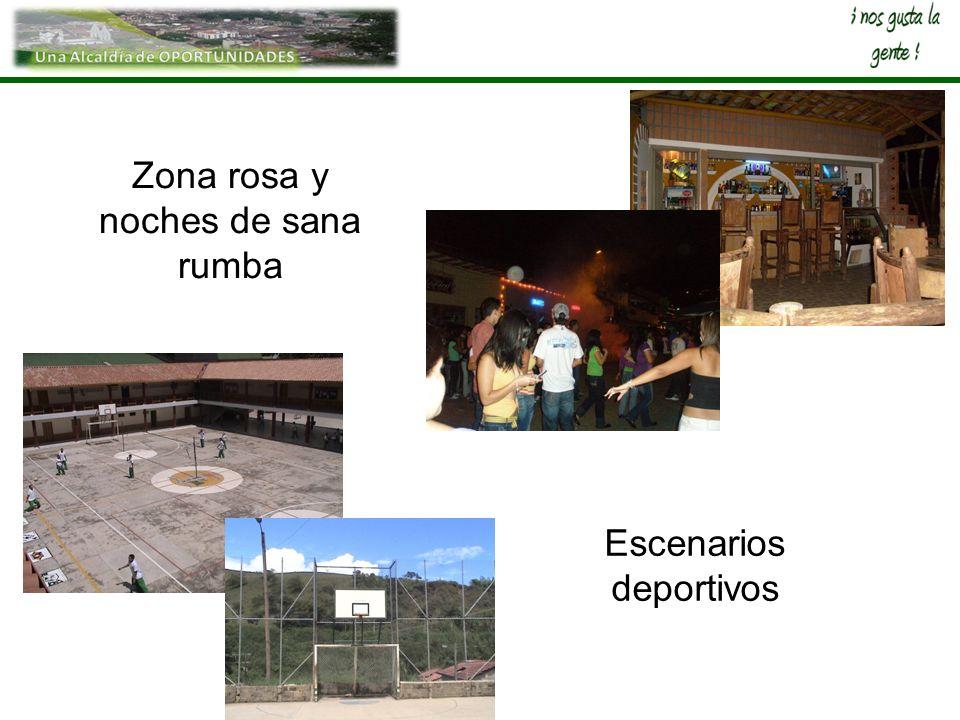 Escenarios deportivos Zona rosa y noches de sana rumba