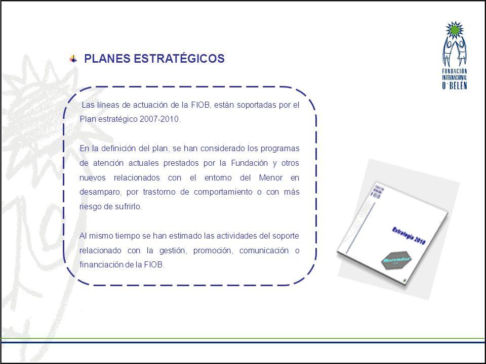 PLANES ESTRATÉGICOS Las líneas de actuación de la FIOB, están soportadas por el Plan estratégico 2007-2010. En la definición del plan, se han consider
