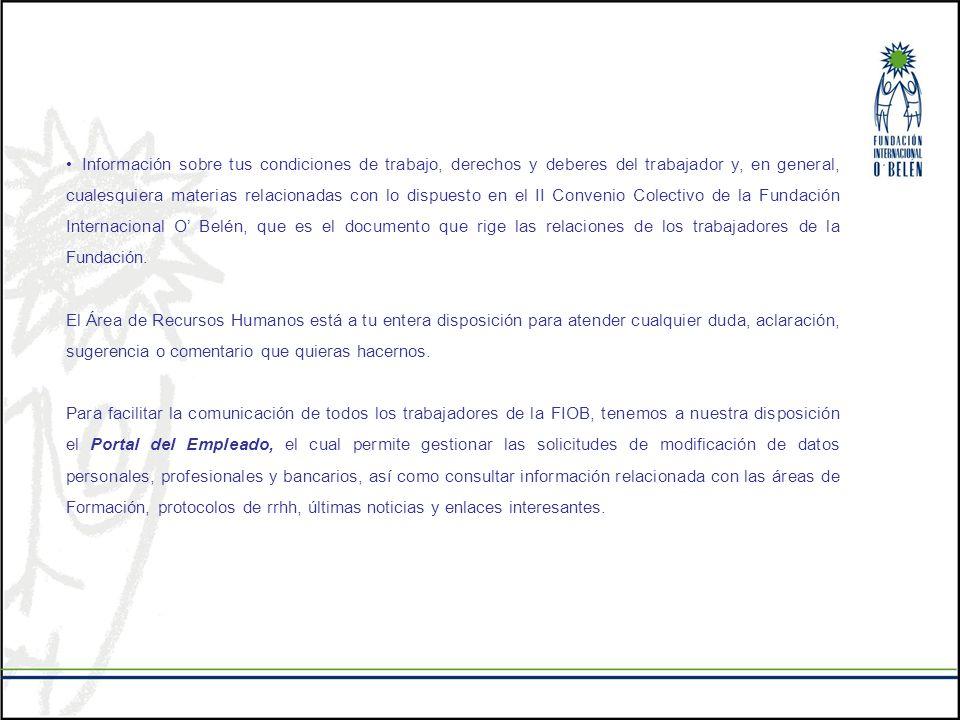 Información sobre tus condiciones de trabajo, derechos y deberes del trabajador y, en general, cualesquiera materias relacionadas con lo dispuesto en