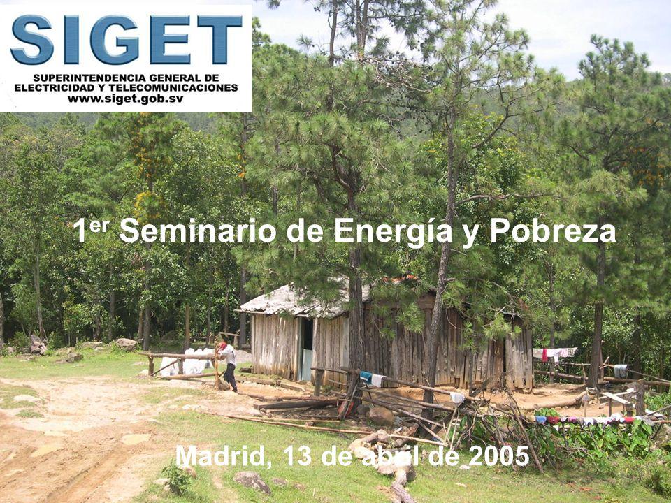 1 er Seminario de Energía y Pobreza Madrid, 13 de abril de 2005
