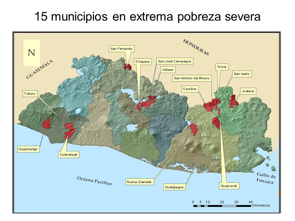 N 15 municipios en extrema pobreza severa