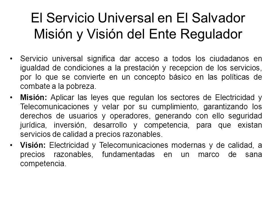 Servicio universal significa dar acceso a todos los ciudadanos en igualdad de condiciones a la prestación y recepcion de los servicios, por lo que se convierte en un concepto básico en las políticas de combate a la pobreza.