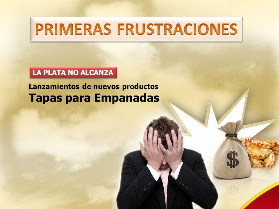 LA PLATA NO ALCANZA Lanzamientos de nuevos productos Tapas para Empanadas