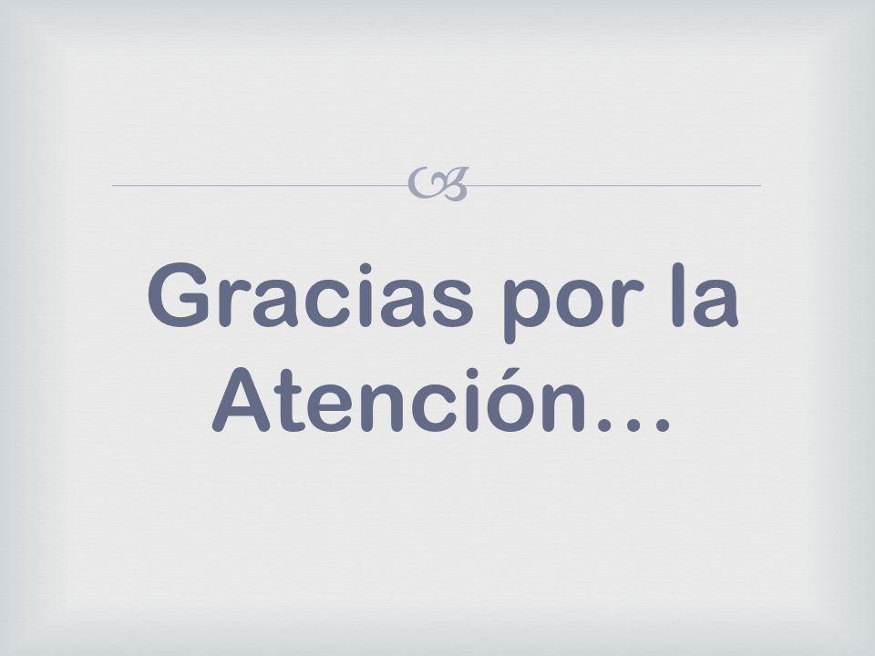 Gracias por la Atención…