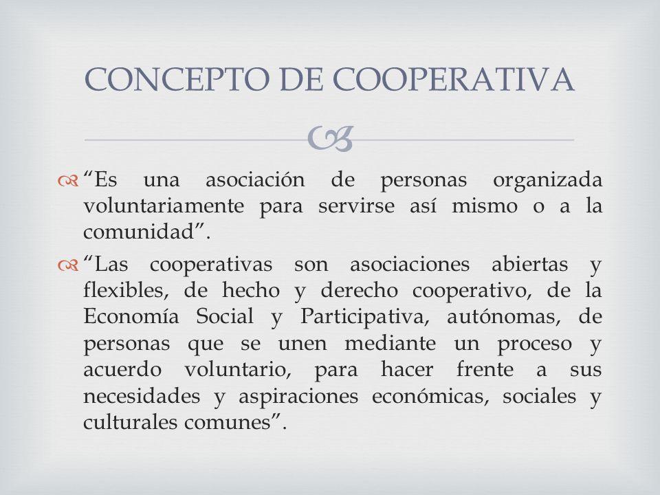 Es una asociación de personas organizada voluntariamente para servirse así mismo o a la comunidad.
