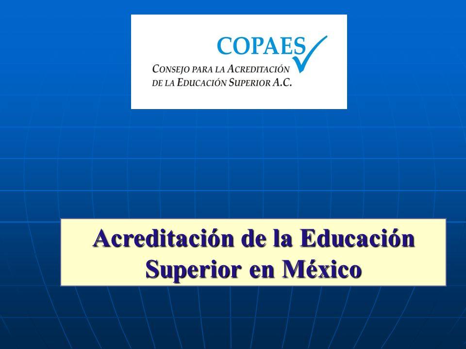 Acreditación de la Educación Superior en México