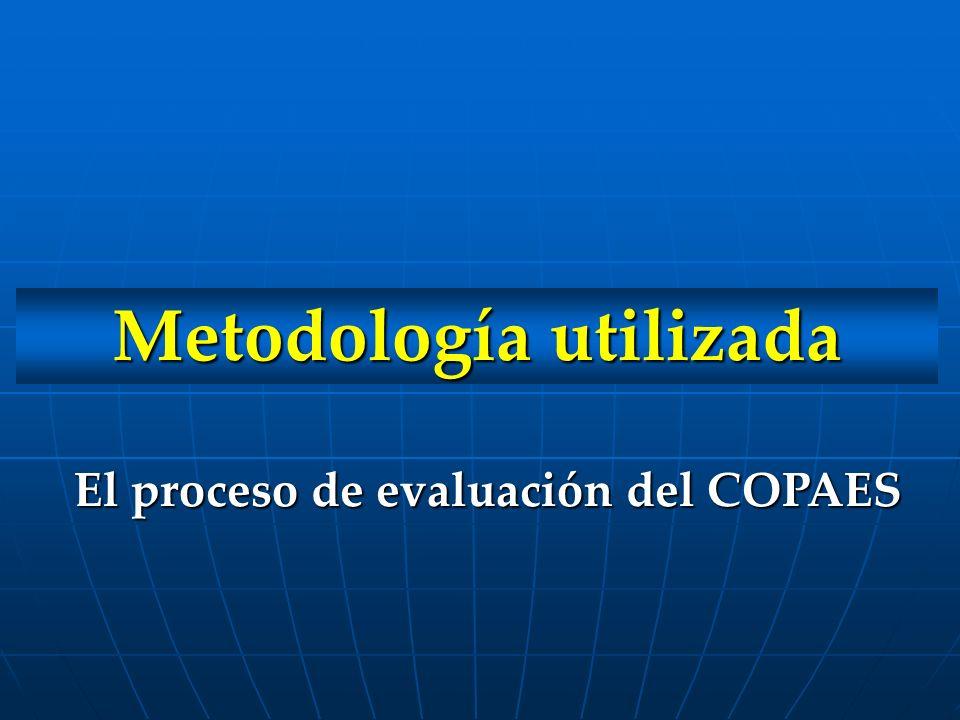 Metodología utilizada El proceso de evaluación del COPAES