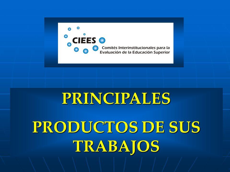 PRINCIPALES PRODUCTOS DE SUS TRABAJOS