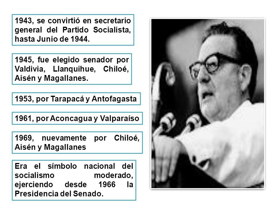1943, se convirtió en secretario general del Partido Socialista, hasta Junio de 1944.