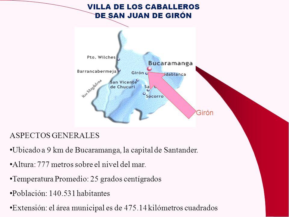 ASPECTOS GENERALES Ubicado a 9 km de Bucaramanga, la capital de Santander. Altura: 777 metros sobre el nivel del mar. Temperatura Promedio: 25 grados