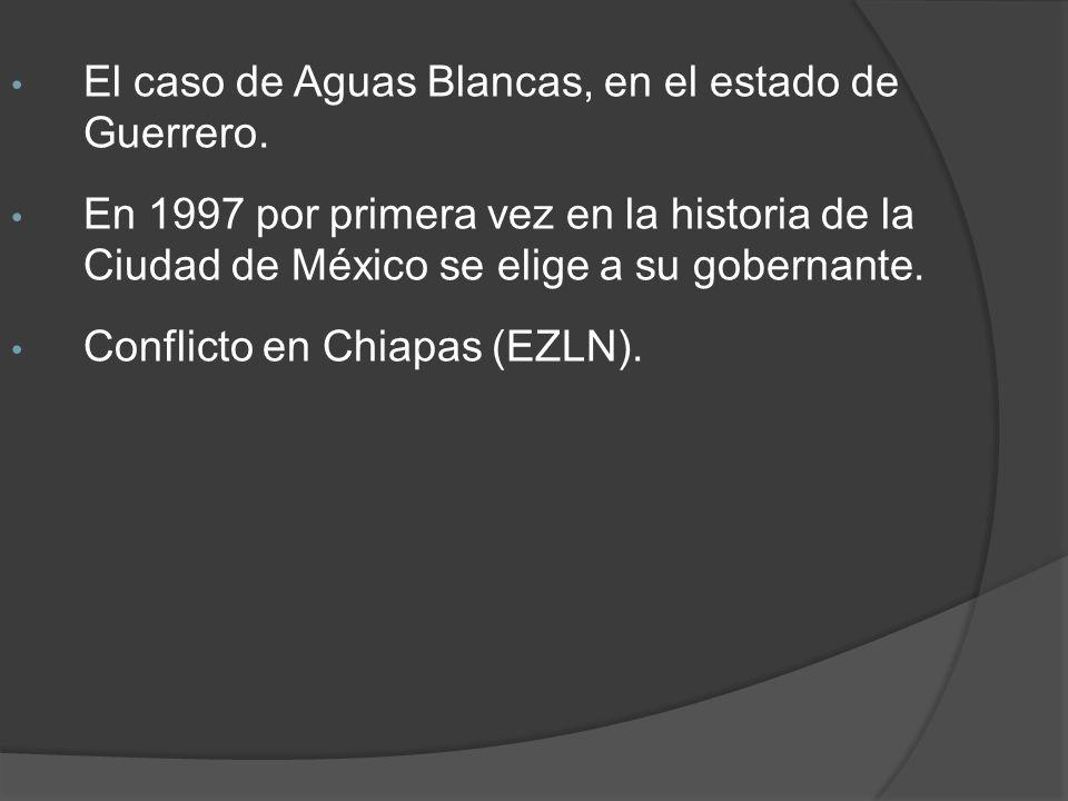 El caso de Aguas Blancas, en el estado de Guerrero.