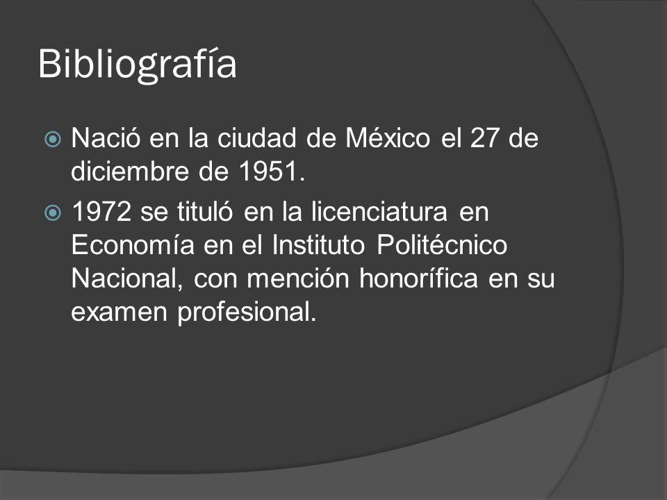 Bibliografía Nació en la ciudad de México el 27 de diciembre de 1951.