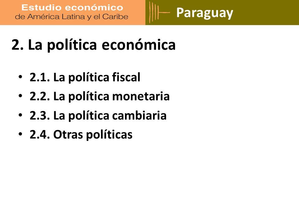 Paraguay 2. La política económica 2.1. La política fiscal 2.2.