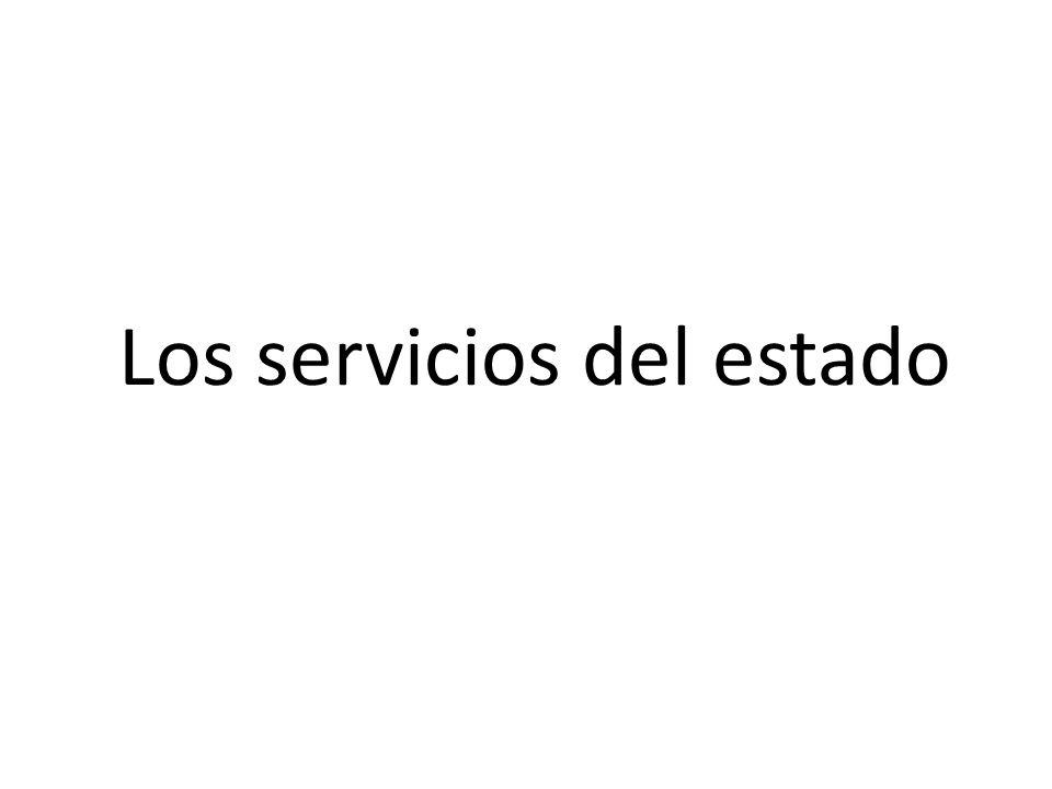 Los servicios del estado