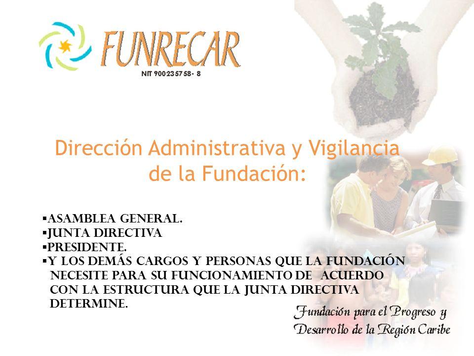 Dirección Administrativa y Vigilancia de la Fundación: ASAMBLEA General.