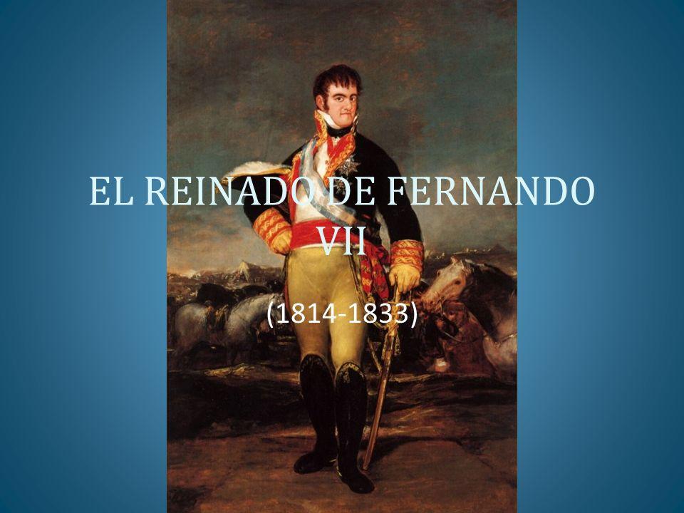 MEDIDAS LEGISLATIVAS DEL TRIENIO LIBERAL 1820-1822: GOBIERNAN LOS DOCEAÑISTAS: MEDIDAS MODERADAS LEY DE SUPRESIÓN DE LAS SOCIEDADES PATRIÓTICAS INTENTOS DE REFORMAR LA CONSTITUCIÓN DE 1812 PARA MODERARLA: INTRODUCCIÓN DEL SUFRAGIO CENSITARIO CREACIÓN DE UNA CÁMARA ALTA LEY DE SUPRESIÓN DE ÓRDENES MONACALES (PRESIÓN DE LOS EXALTADOS) ABOLICIÓN DE LOS GREMIOS DESAMORTIZACIÓN ECLESIÁSTICA SUPRESIÓN DE VINCULACIONES Y MAYORAZGOS NOBILIARIOS