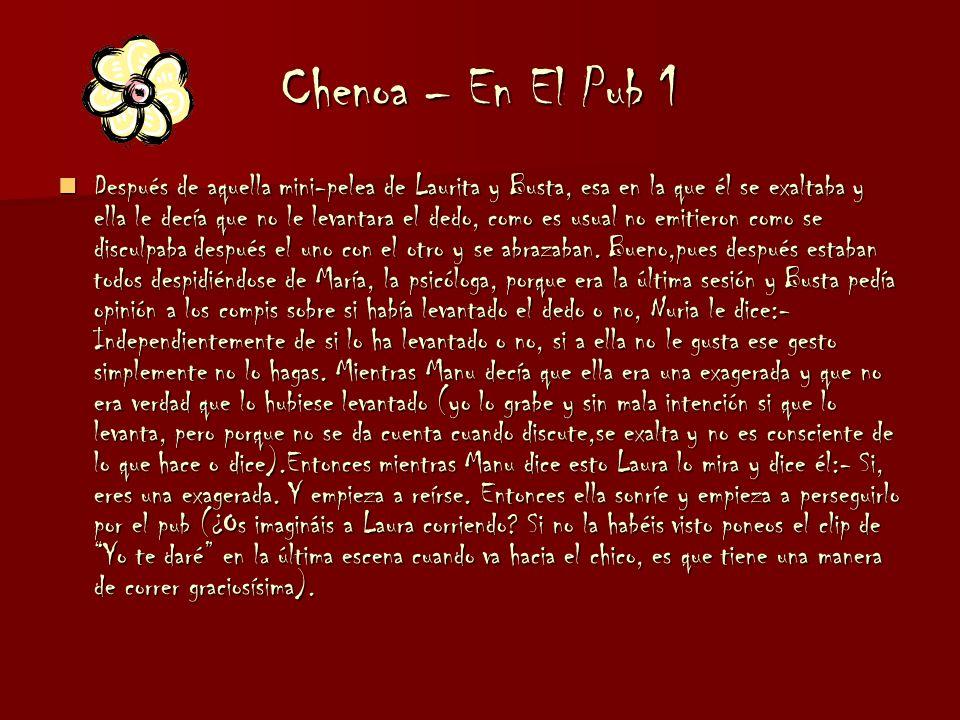 Chenoa – La Llorera 2 pero como está apoyada en la espalda de Vero, la está empapando y dice:- ¡Uy! ¿No te importa que te bañe? Y se ríen todas. Se qu