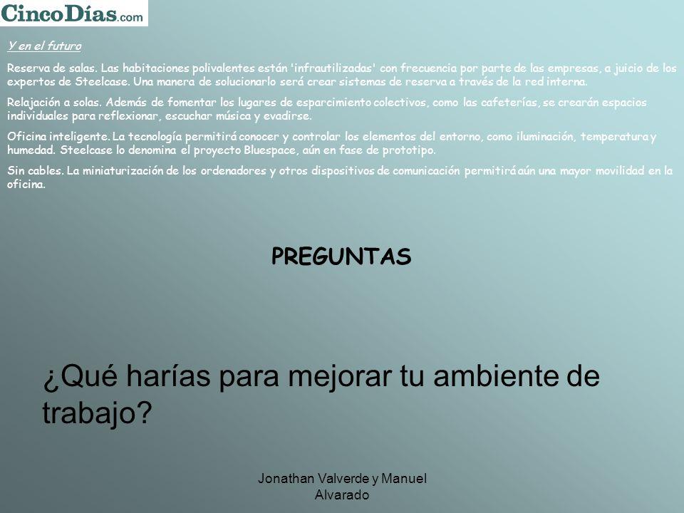 Jonathan Valverde y Manuel Alvarado Y en el futuro Reserva de salas.