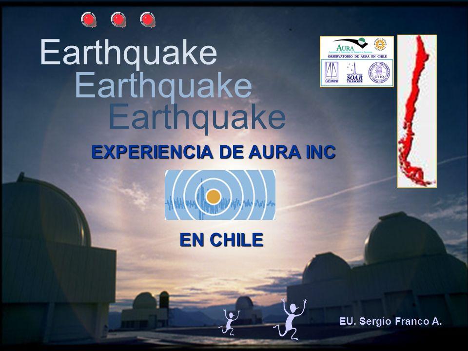 Earthquake EU. Sergio Franco A. EXPERIENCIA DE AURA INC EN CHILE EN CHILE