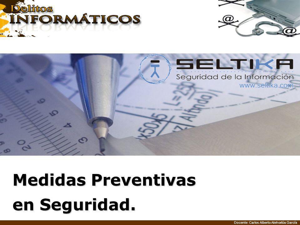 Docente: Carlos Alberto Atehortúa García Medidas Preventivas en Seguridad.