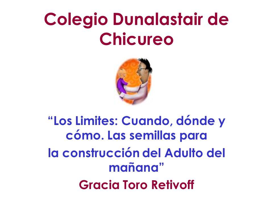 Colegio Dunalastair de Chicureo Los Limites: Cuando, dónde y cómo. Las semillas para la construcción del Adulto del mañana Gracia Toro Retivoff