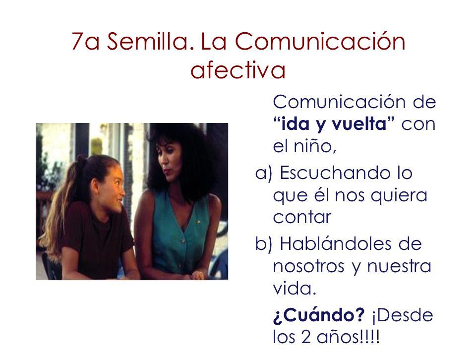 Comunicación de ida y vuelta con el niño, a) Escuchando lo que él nos quiera contar b) Hablándoles de nosotros y nuestra vida. ¿Cuándo? ¡Desde los 2 a