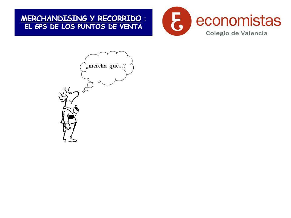 MERCHANDISING Y RECORRIDO : EL GPS DE LOS PUNTOS DE VENTA ¿mercha qué...?