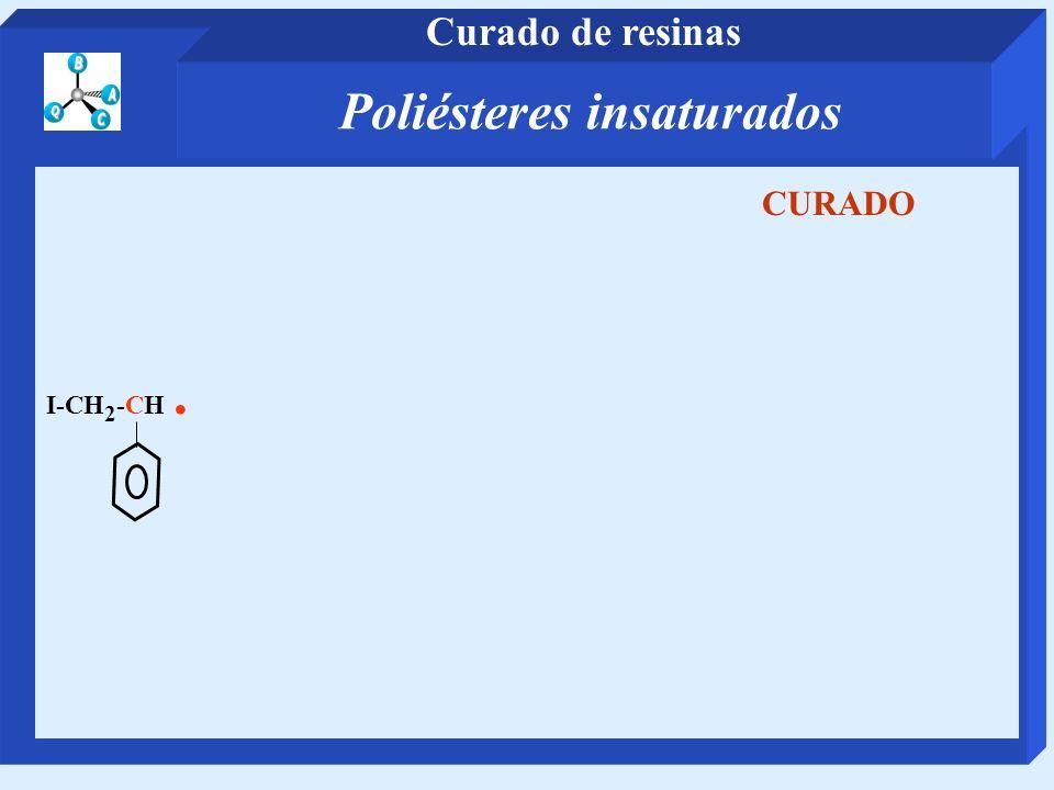 I-CH 2 -CH. CURADO Poliésteres insaturados Curado de resinas