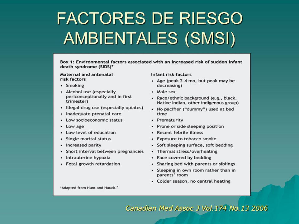 FACTORES DE RIESGO AMBIENTALES (SMSI) Canadian Med Assoc J Vol.174 No.13 2006 Canadian Med Assoc J Vol.174 No.13 2006