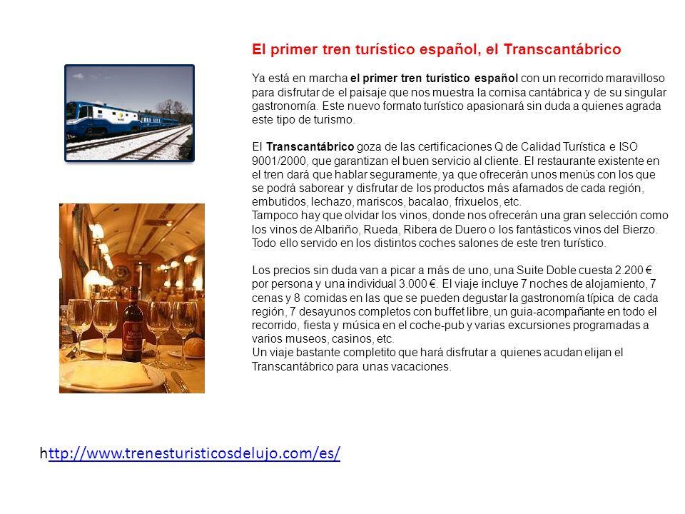 http://www.trenesturisticosdelujo.com/es/ttp://www.trenesturisticosdelujo.com/es/ El Expreso de La Robla le brinda la oportunidad de viajar en un tren