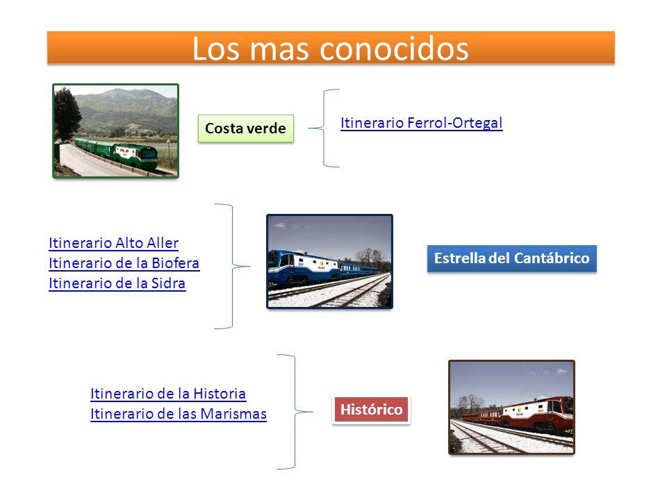 Los mas conocidos Costa verde Itinerario Ferrol-Ortegal Estrella del Cantábrico Itinerario Alto Aller Itinerario de la Biofera Itinerario de la Sidra