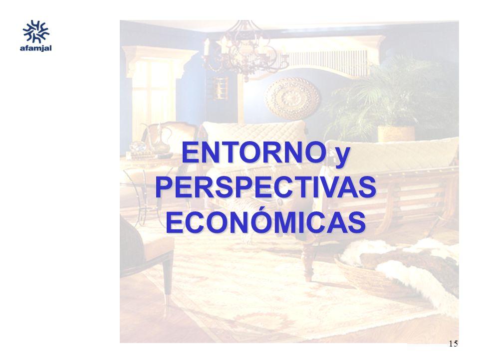 FUENTE : SEIJAL - AFAMJAL, en base a investigación directa. 15 ENTORNO y PERSPECTIVAS ECONÓMICAS