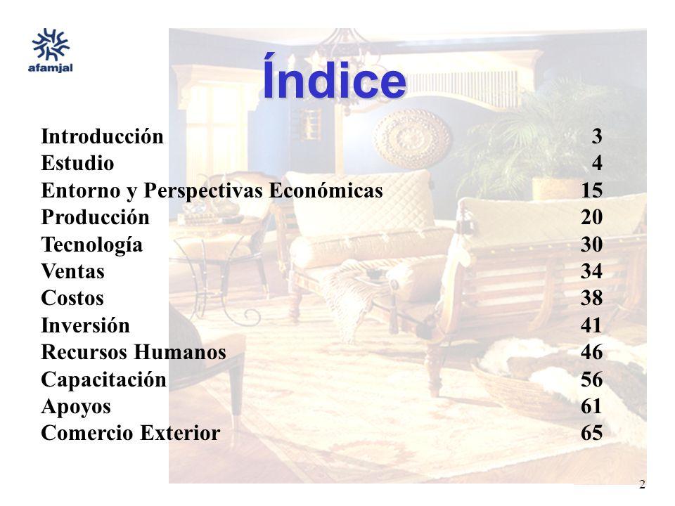 FUENTE : SEIJAL - AFAMJAL, en base a investigación directa. 2 Índice Introducción 3 Estudio 4 Entorno y Perspectivas Económicas15 Producción20 Tecnolo