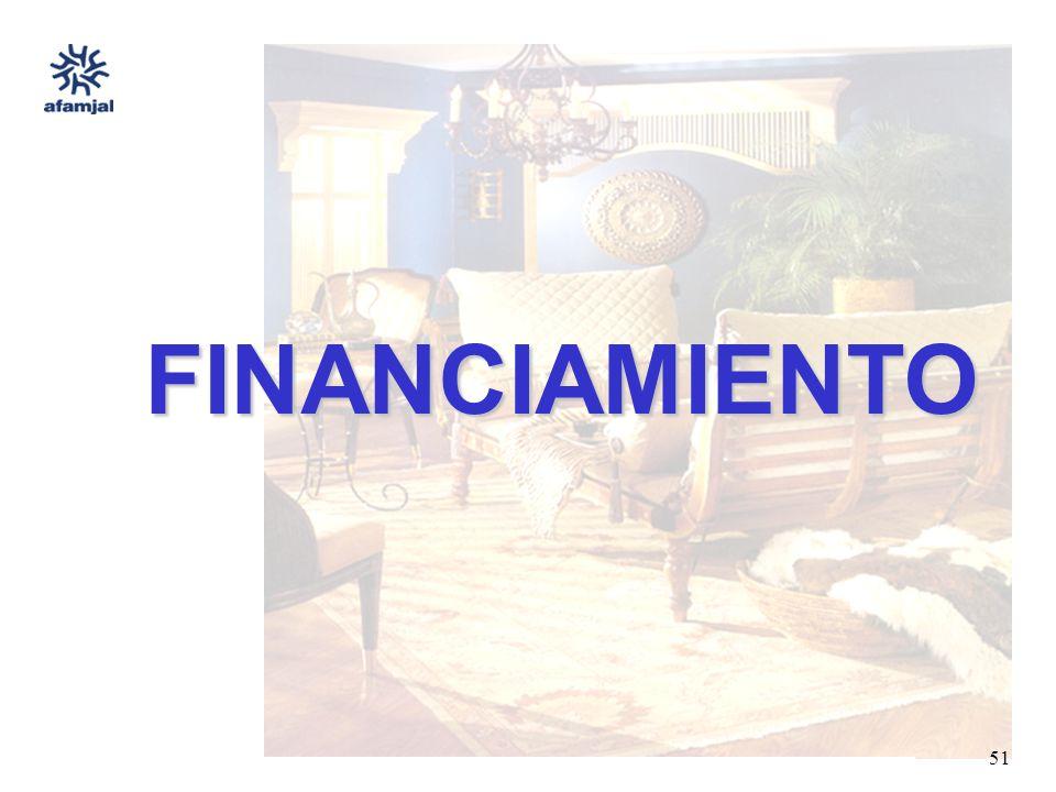 FUENTE : SEIJAL - AFAMJAL, en base a investigación directa. 51 FINANCIAMIENTO