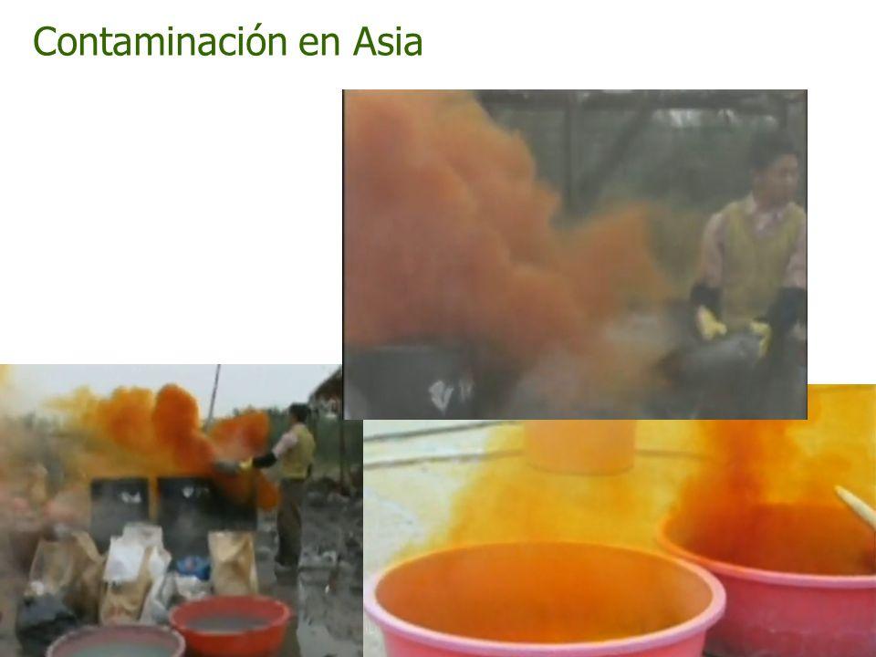 Contaminación en Asia