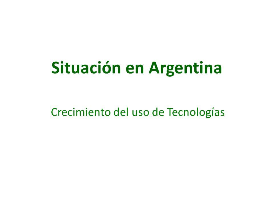 Situación en Argentina Crecimiento del uso de Tecnologías