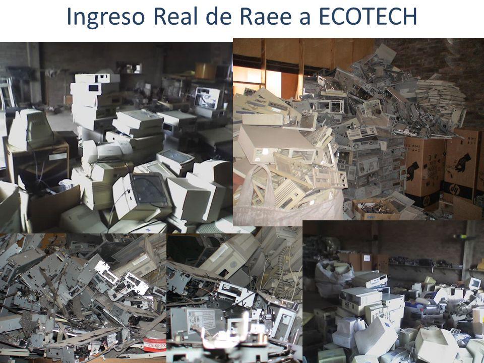 Ingreso Real de Raee a ECOTECH