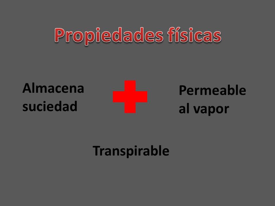 Transpirable Permeable al vapor Almacena suciedad