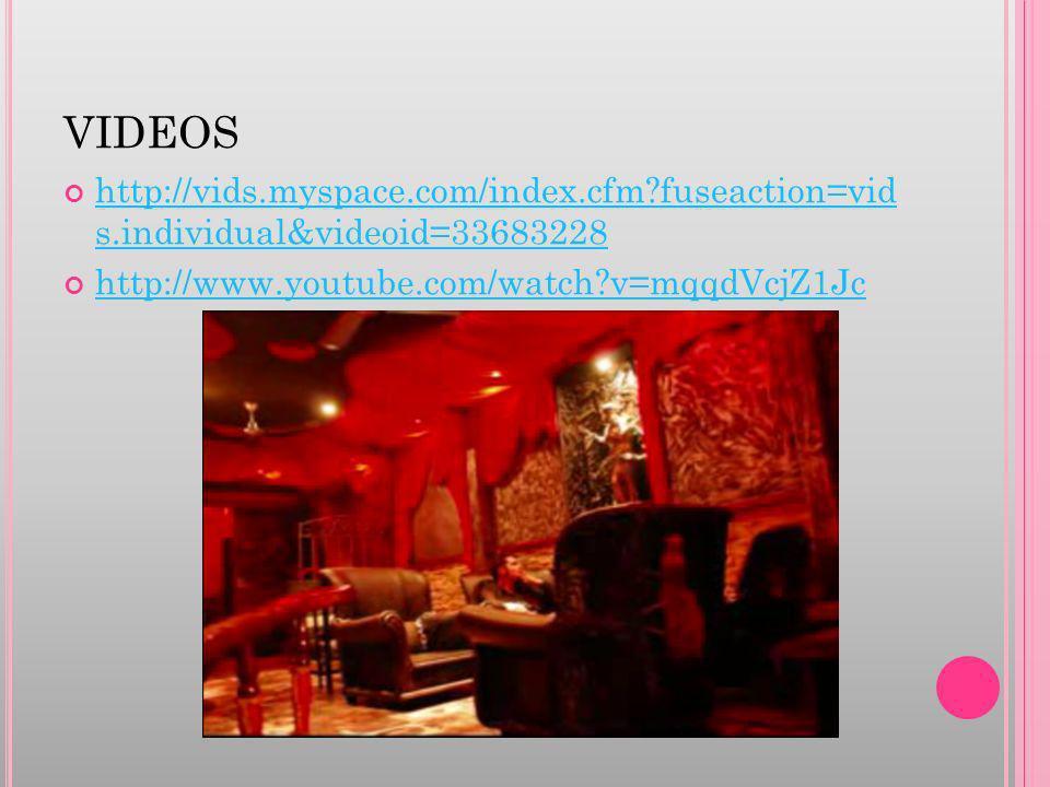 VIDEOS http://vids.myspace.com/index.cfm?fuseaction=vid s.individual&videoid=33683228 http://vids.myspace.com/index.cfm?fuseaction=vid s.individual&vi