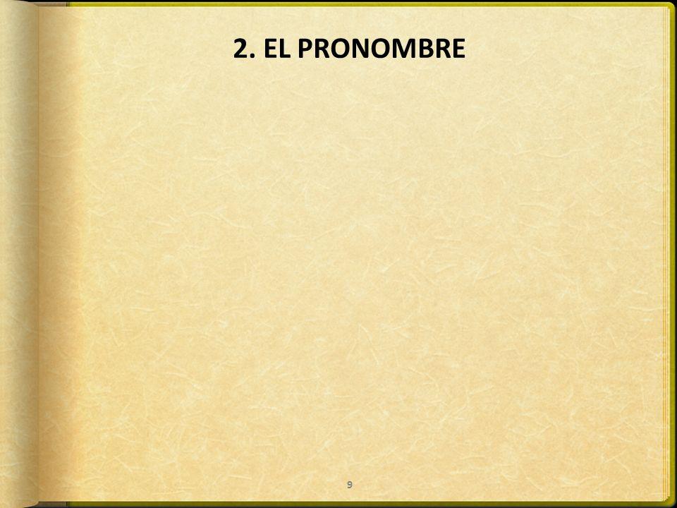 2. EL PRONOMBRE 9