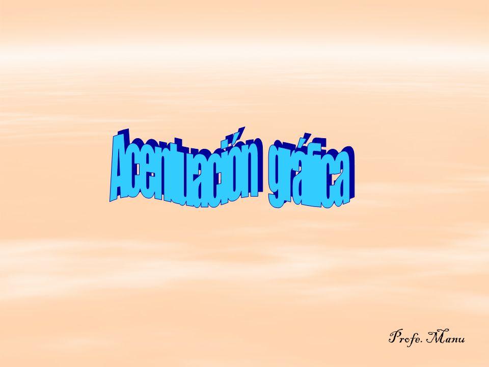 Las palabras están divididas en: * Agudas la sílaba tónica es la última * Agudas la sílaba tónica es la última café algodón cantar café algodón cantar * Graves la sílaba tónica es la penúltima * Graves la sílaba tónica es la penúltima cráter ítem patria cráter ítem patria * Esdrújulas la sílaba tónica es la anti penúltima * Esdrújulas la sílaba tónica es la anti penúltima sábado sábana histórico sábado sábana histórico * Sobresdrújula la sílaba tónica es la anti-antipenúltima.